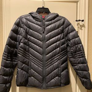 Grey travel down filled puffer jacket
